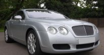 Bentley Continental GT in Moonbeam Silver