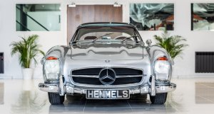 Mercedes 300SL in Silver, rebuilt by Hemmels