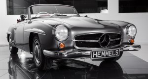 Mercedes-Benz 190SL in anthracite, rebuilt by Hemmels