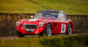 The Ex – Works Rally Team, Le Mans, 'The Chairman's Car' 1956 Austin Healey 100/6 For Sale at William I'Anson Ltd