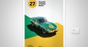 Ferrari 250 GTO Goodwood Motor Racing - Tourist Trophy Race - 1962 - Green / Yellow - #8