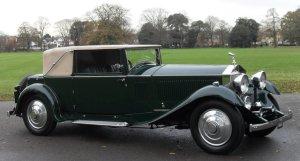 Rolls-Royce Phantom II Continental Park Ward Style Three Position Drophead Coupe 1931