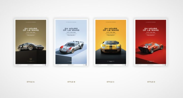 Ford GT40 Poster Collection SET