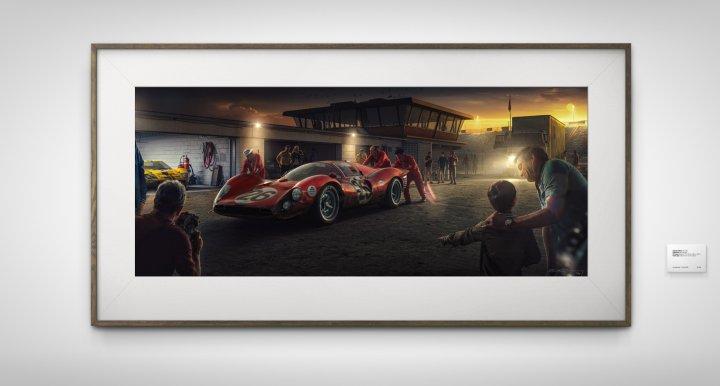 Ferrari 412P Daytona fine art print 1967