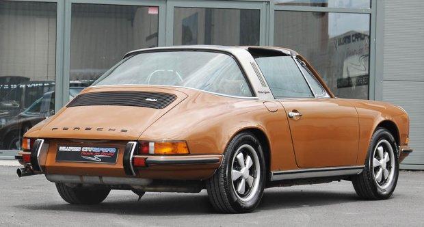 1972 Porsche 911 T Targa LHD sepia brown for sale