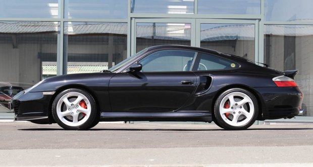 2004 Porsche 996 Turbo manual coupe in basalt black for sale