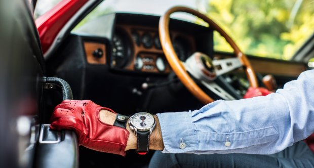 The Authentic Race - Driving Gloves - Red/Black