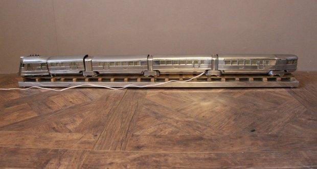 Polished Aluminum Train Lamp