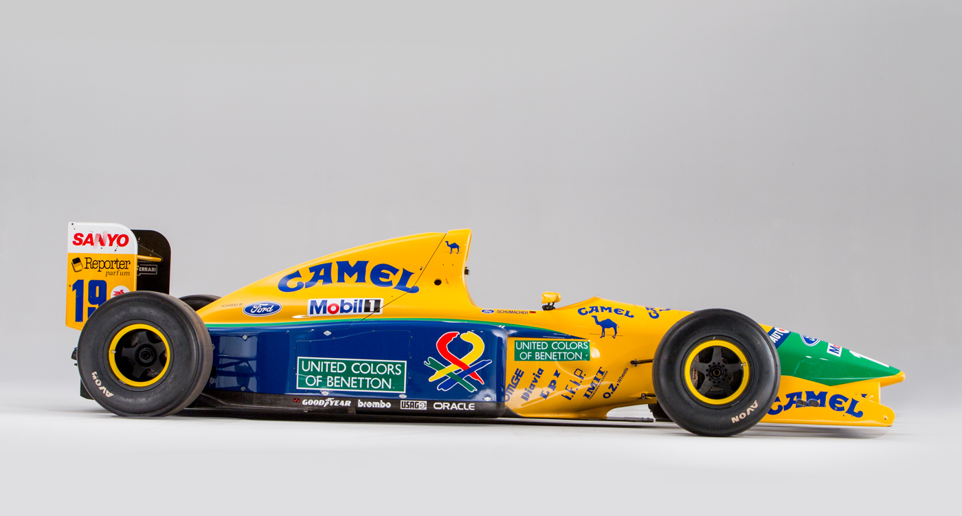 Schumacher S First Podium Benetton F1 Car To Be Auctioned