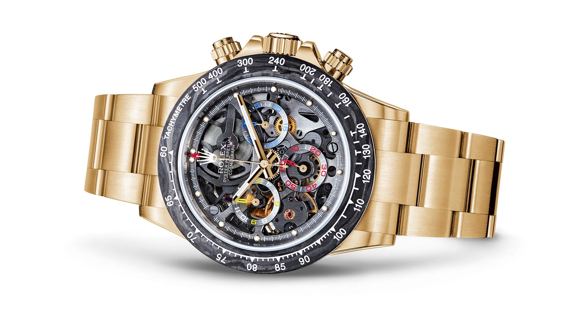 1c54773126d Artisans de Genève gives Montoya's Rolex Daytona the golden touch   Classic  Driver Magazine