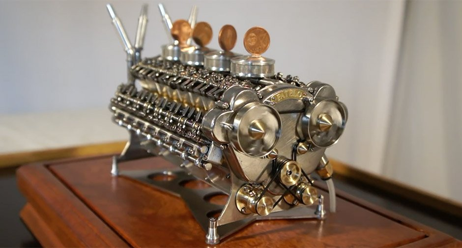 This Fully Functioning W32 Engine Is A Marvel In Miniature
