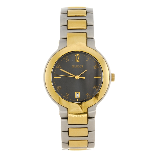 gucci 8900m. a bi-colour quartz gentleman\u0027s gucci 8900m bracelet watch.   classic driver market 8900m