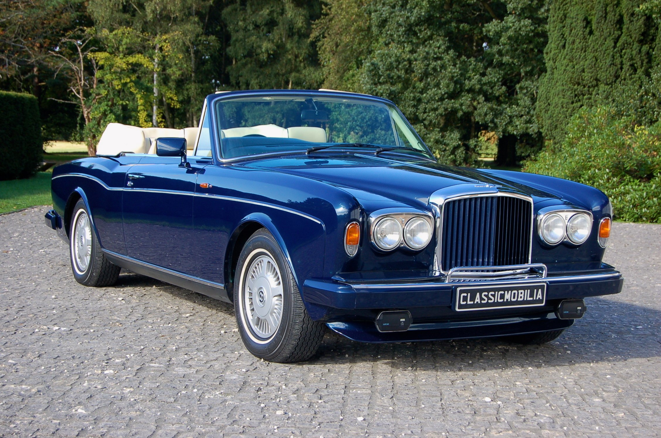 Aj95 Bentley Blue Drive Car: 1989 Bentley Continental