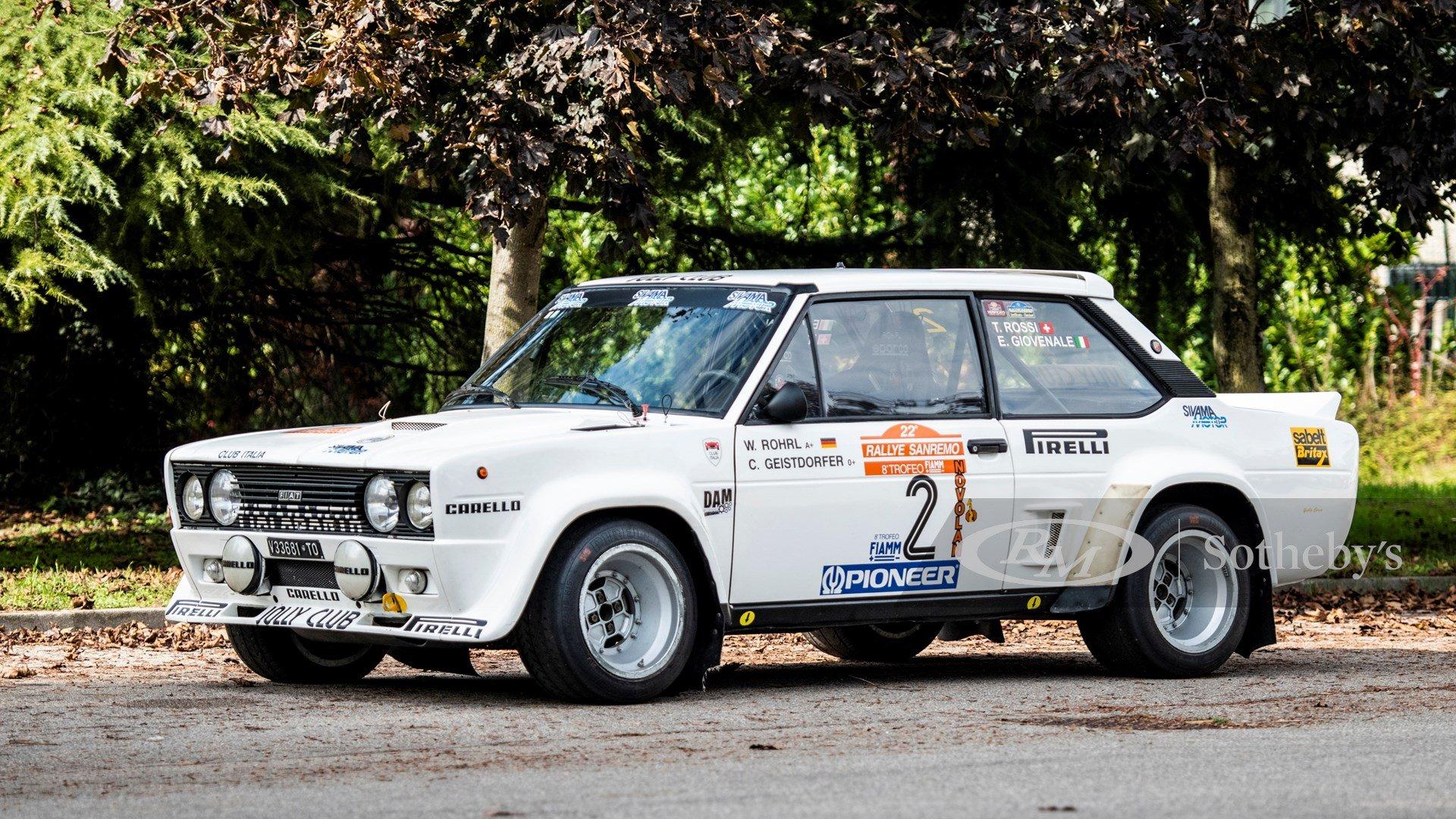 1980 Fiat 131 Abarth Rally Classic Driver Market