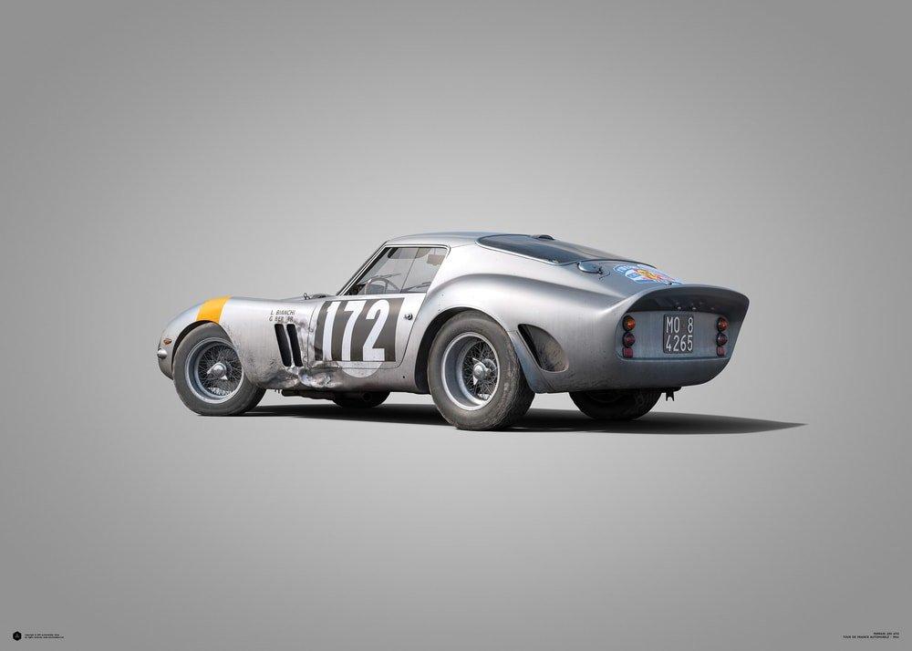 Ferrari 250 Gto Silver Tour De France 1964 Colors Of Speed Poster Classic Driver Market