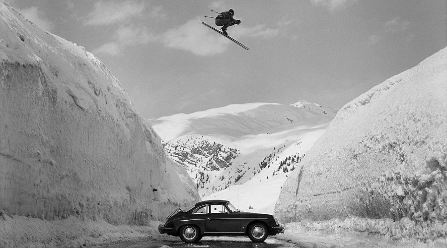 Vintage Fotokunst 356 Porschesprung Von Tru 246 L Wird