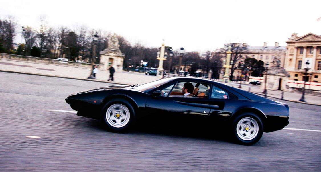 ferrari 308 gtb the black swan of paris classic driver magazine. Black Bedroom Furniture Sets. Home Design Ideas