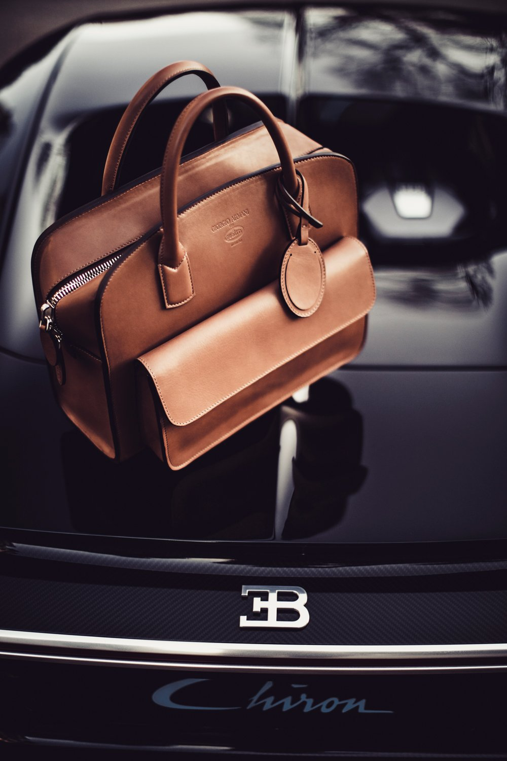 f4753ffdc4b1 Giorgio Armani designed the Bugatti Chiron s matching weekend bag