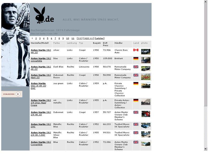 Classic Driver: Neuer Internetauftritt bei Playboy.de