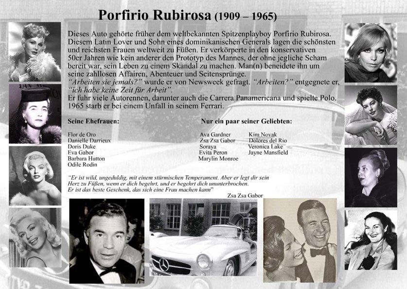Playboy Porfirio Rubirosa fuhr einen 300 SL Gullwing