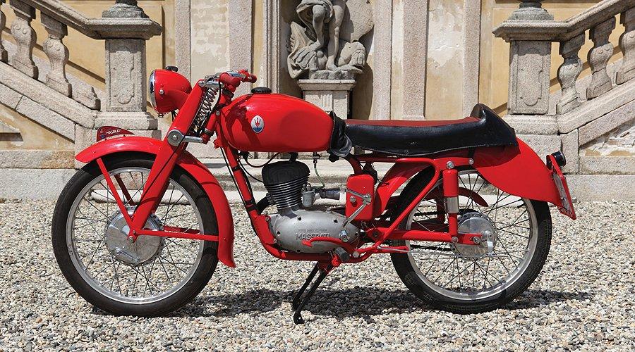 zweirad mit dreizack maserati motorrad von 1953 wird. Black Bedroom Furniture Sets. Home Design Ideas