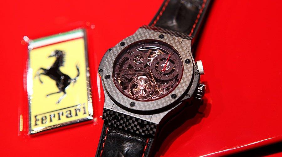 Hublot Big Bang Tourbillion Ferrari: Chrono Rosso