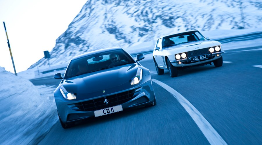 Ferrari FF vs. Jensen FF: Fast Forward to St. Moritz  - on video