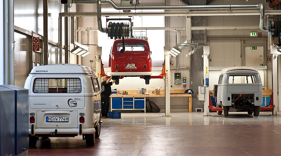 maintaining the magic bus vw s official restoration centre classic driver magazine. Black Bedroom Furniture Sets. Home Design Ideas