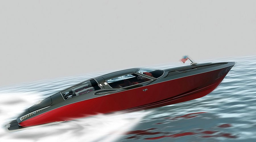 Corvette Sting Ray Konzeptboot: Muskeln für Neptun