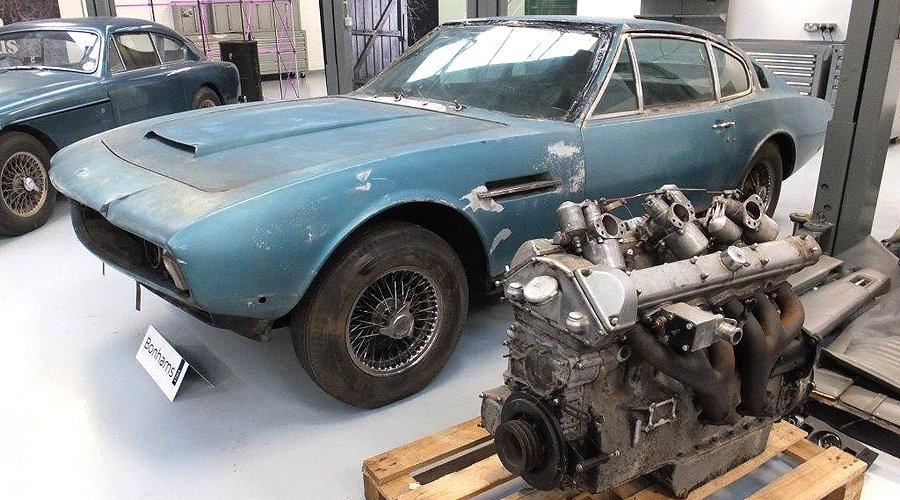 Barn Finds Return Home Bonhams Aston Martin Sale At Newport Pagnell