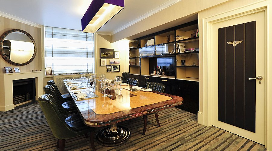 Updated 'Bentley Room' at Mosimann's private dining club