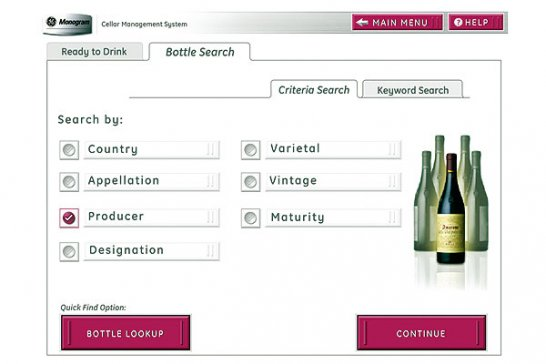 Fine wines at your fingertips