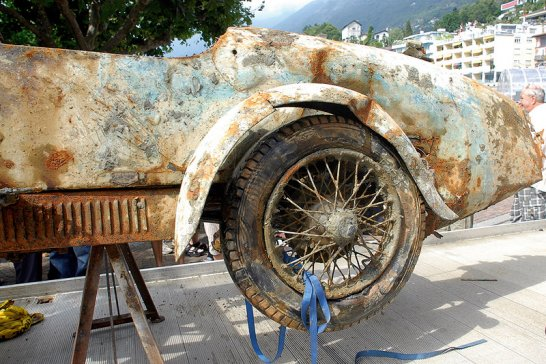 Brescia Bugatti Rescued from Lake Maggiore