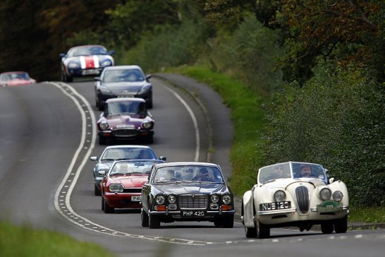 Jaguar 75th Tour from Coventry to Goodwood