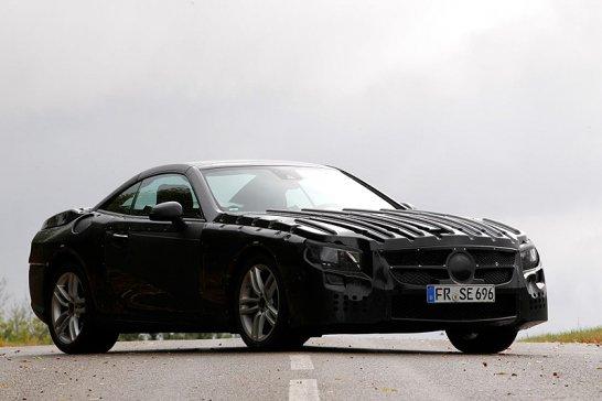 Der neue Mercedes-Benz SL: Prototyp auf Erprobungsfahrt