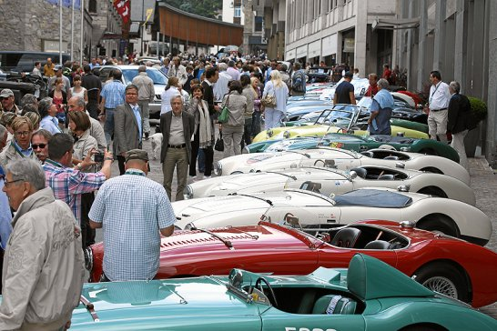 2012 British Classic Car Meeting in St Moritz: A new route, new cars
