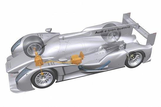 Audi R18 e-tron quattro diesel-hybrid Le Mans car