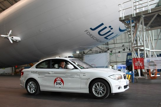 Bodensee Elektrik 2012 im BMW ActiveE: Schon mal rekuperiert?