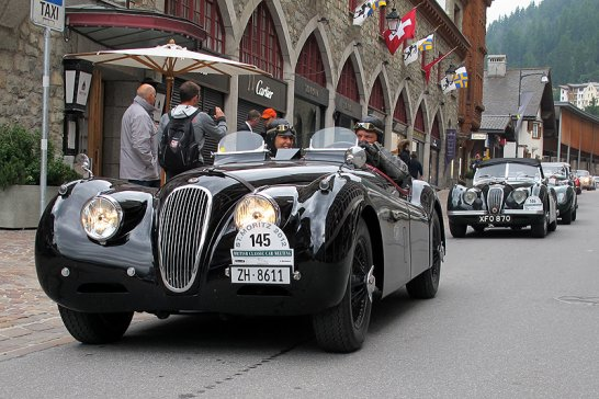 British Classic Car Meeting St. Moritz: Full House