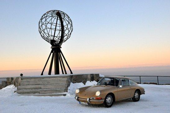 Norway's North Cape in a Classic Porsche 911: A true winter wonderland...