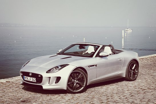 First (Shotgun) Ride in the New Jaguar F-type