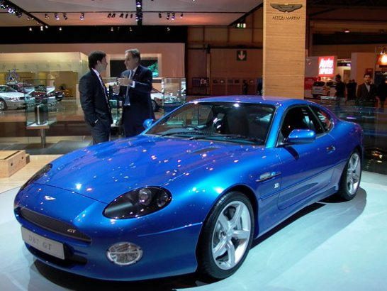 Aston Martin DB7GT launched at British International Motorshow 2002