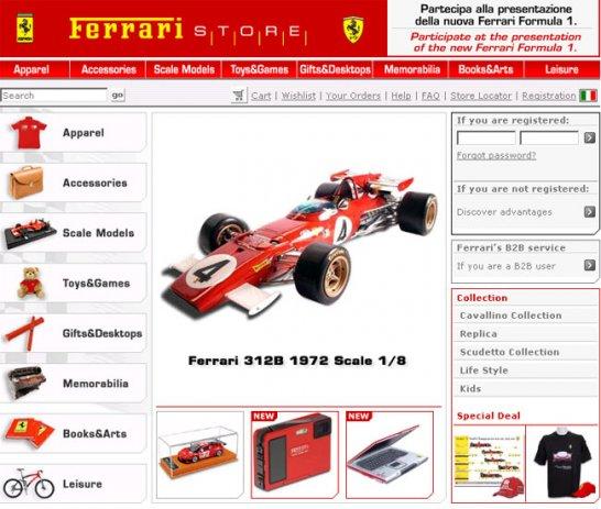 Formula 1 prizes at Ferraristore.com