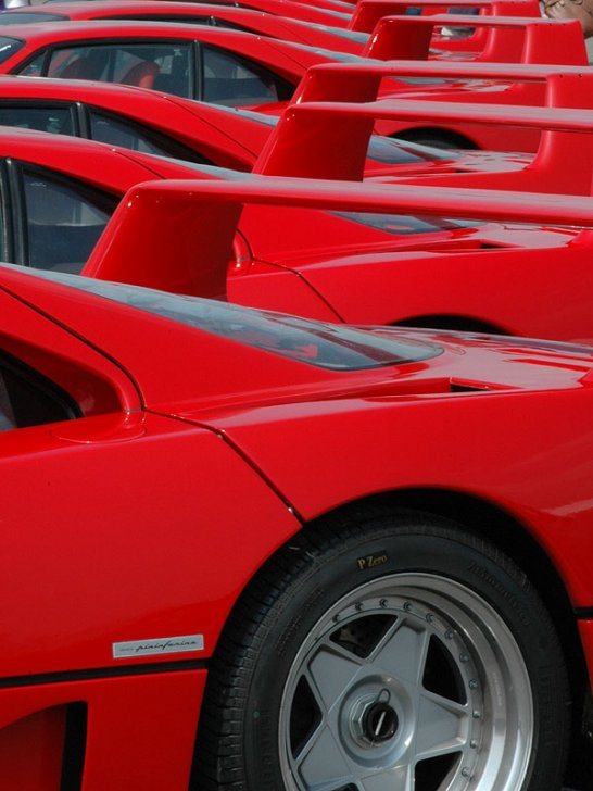 Guinness World Record for  'Largest Parade of Ferrari Cars'