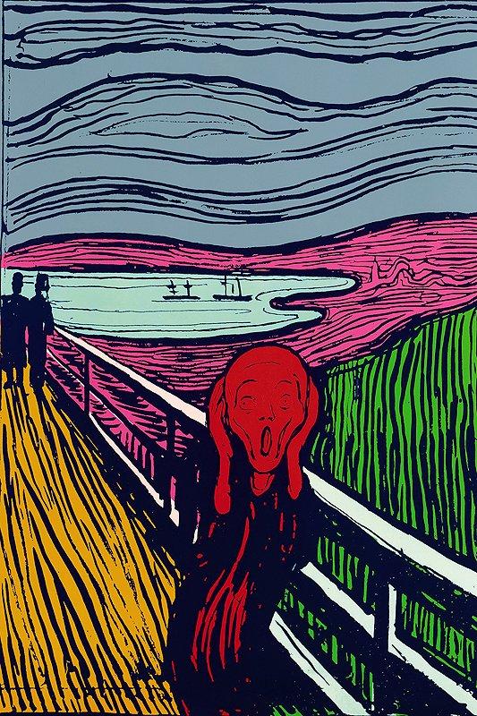 A Warholian take on Munch: Angst-ridden pop art for sale