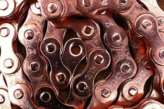 Glänzender Eindruck: Das Kupferbike von Van Heesch