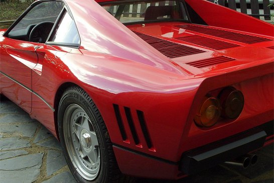 The world's largest dog... with 'Ferrari 288 GTO'