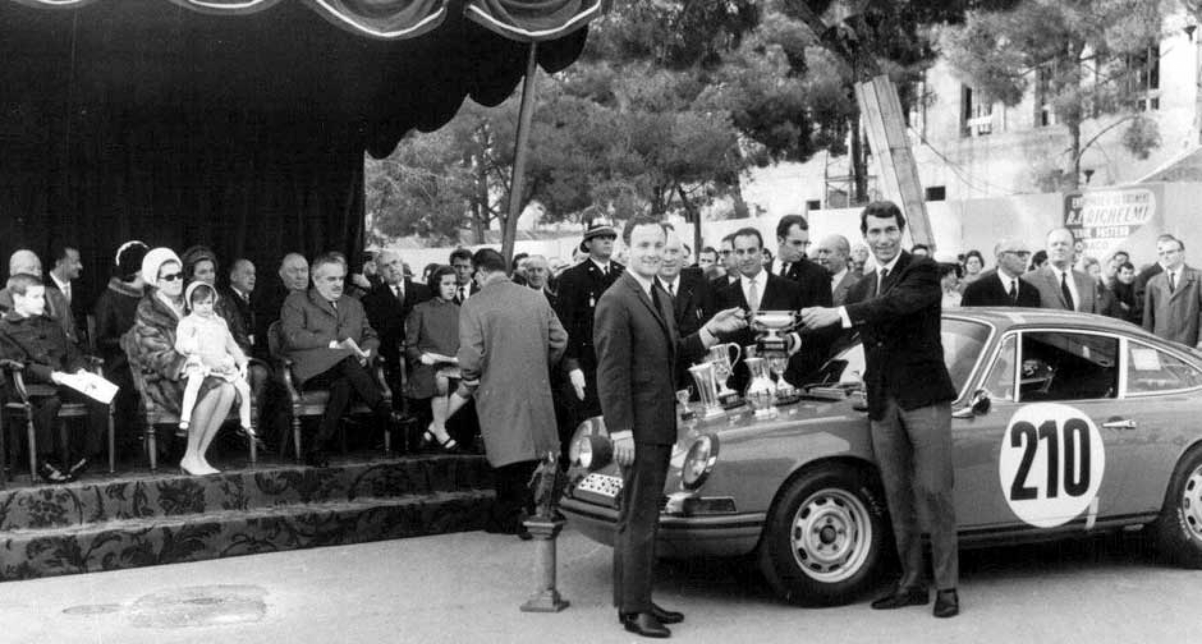 A year of hard work brought its own reward – Monte Carlo victory 1968, and the resulting silverware presented by Prince Rainier, Princess Grace and the children, Caroline, Albert and Stephanie.