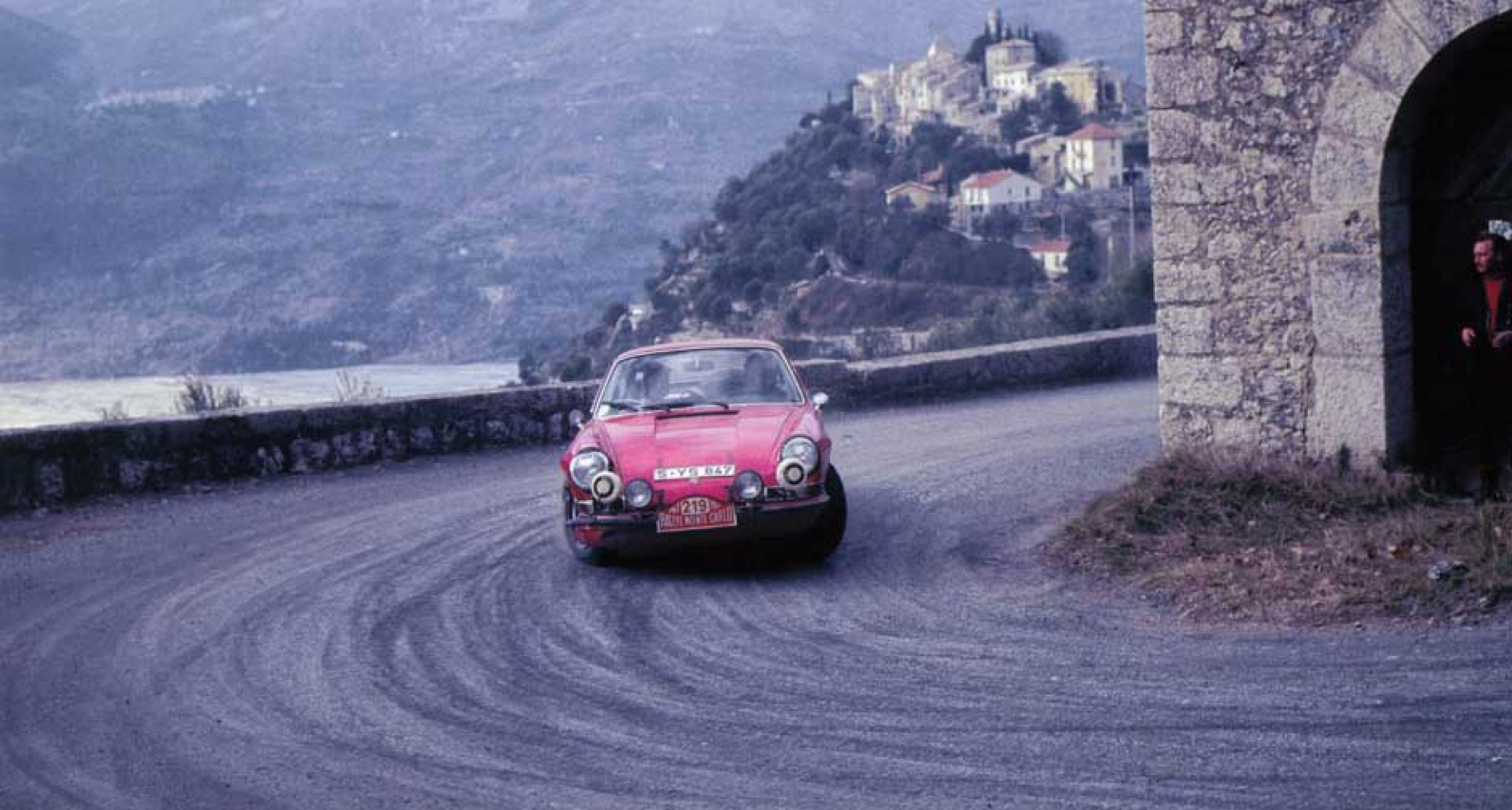 """Monte Carlo 1967, and Elford tells us that S – YS 847 became his """"favourite 911 of all time"""". No wonder: 3rd on the 1967 Monte Carlo, 1st on the Geneva Rally, 1st on the Lyon-Charbonnières Rally, 1st on the Tulip Rally, and European Rally Champion in GT."""