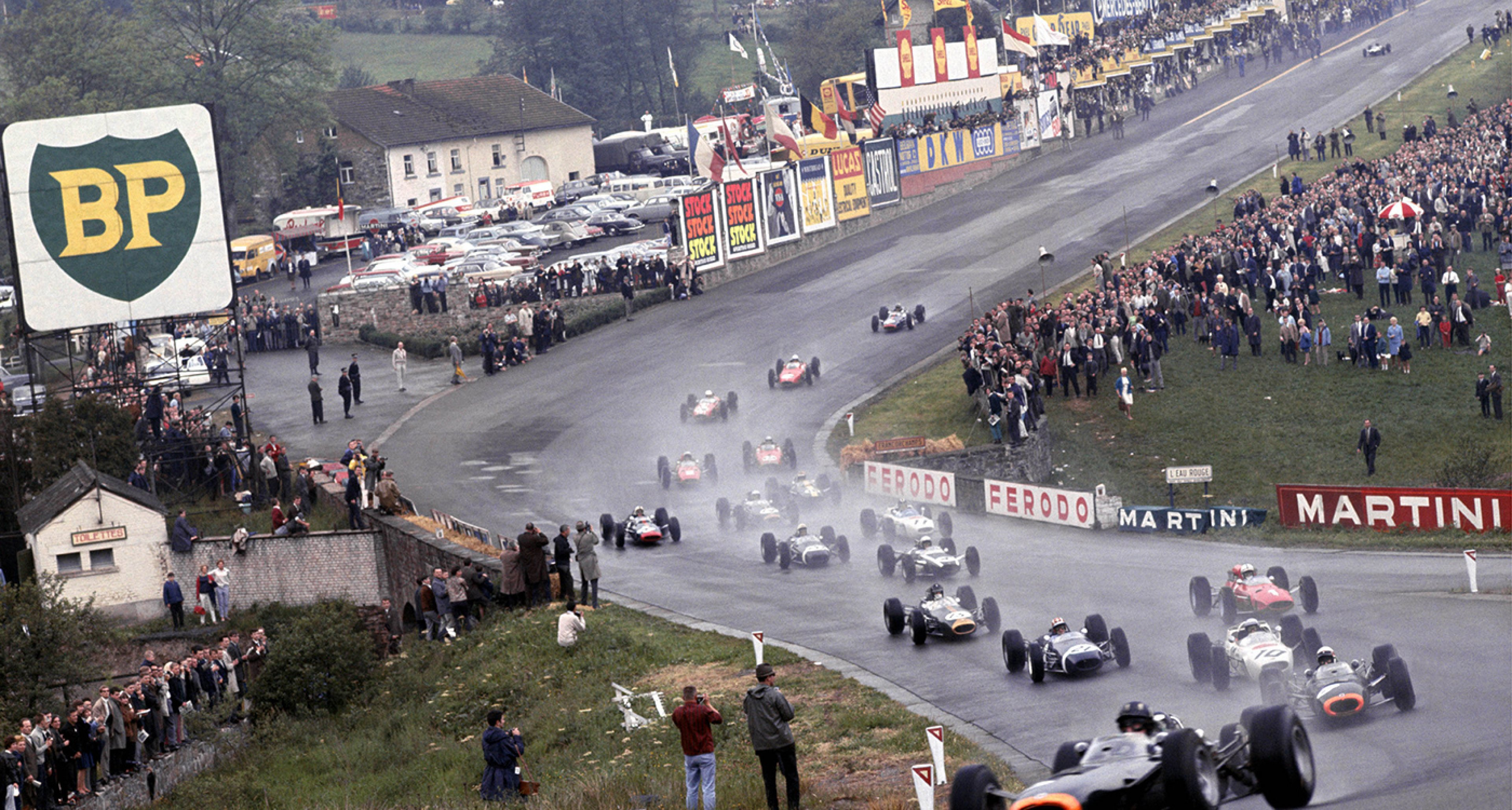 1965 Belgian GP: Hill, Stewart, Ginther, Siffert, Surtees, Gurney...
